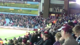 aston villa fans fighting v wba 3 3 2015
