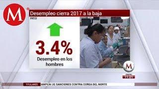 Desempleo cierra 2017 a la baja; informalidad aumenta