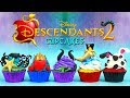 DESCENDANTS 2 CUPCAKES (UMA,EVIE,MAL,JAY AND CARLOS)
