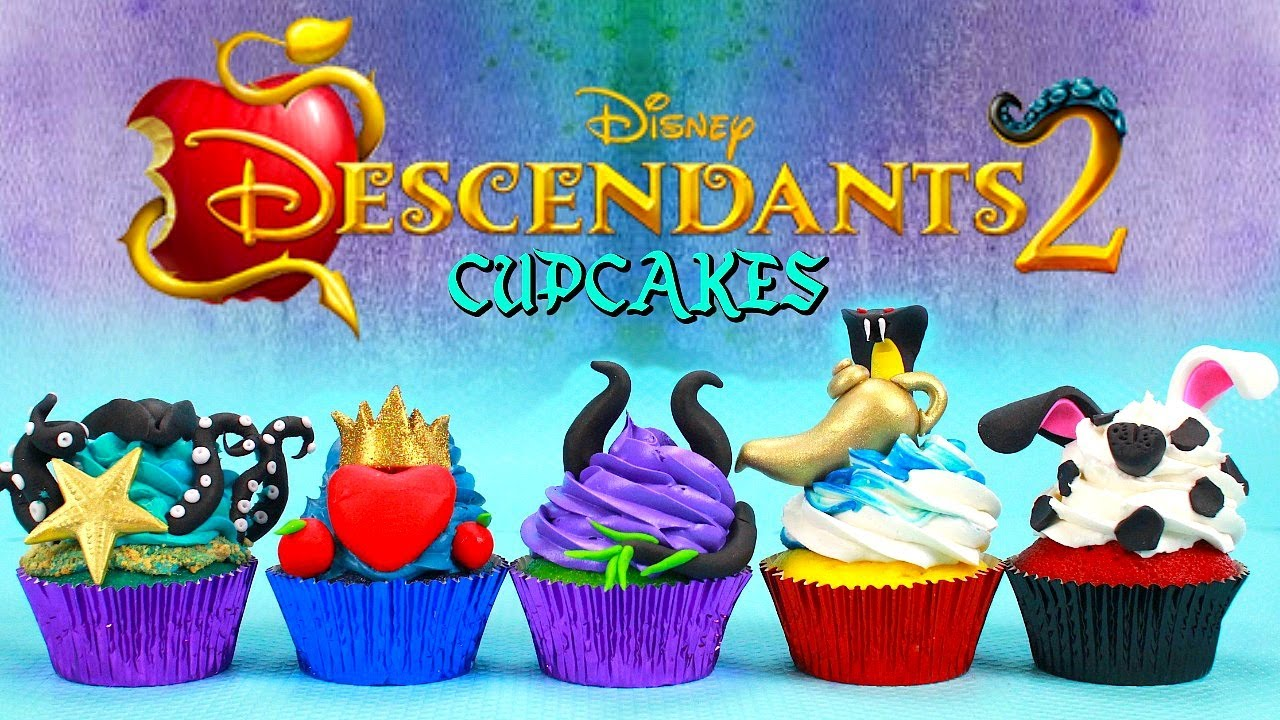 Download DESCENDANTS 2 CUPCAKES (UMA,EVIE,MAL,JAY AND CARLOS)