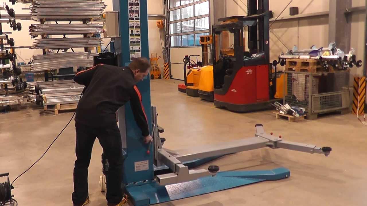 Geliebte Funktionsvideo für Ein-Säulen-Hebebühne Wiedemann-Fahrzeugtechnik &XA_56