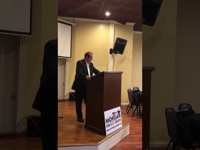 C. Wesley Morgan for U. S Senate speaking to the Washington County GOP on January 9, 2020.