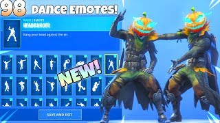 NEW! PUMPKIN HEAD SKIN! With ALL DANCE EMOTES ! Showcase Fortnite