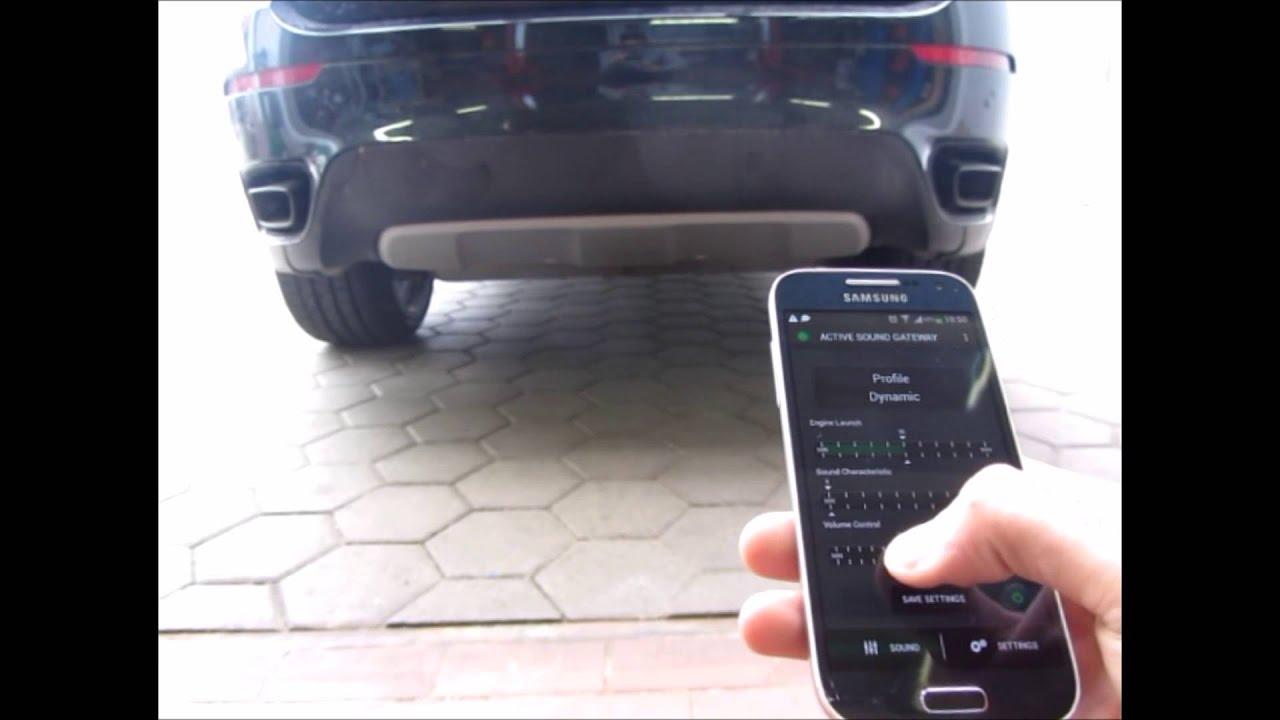 Активный звук выхлопной системы дизельного BMW E71 X6 M50D от WINDE.RU