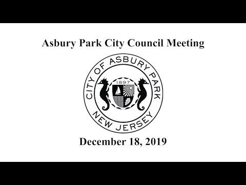 Asbury Park City Council Meeting - December 18, 2019