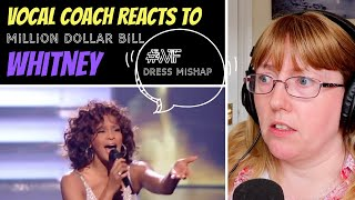 Vocal Coach Reacts to Whitney Houston 'Million Dollar Bill' LIVE - What happened to the dress? #wtf