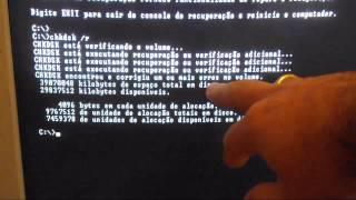 Windows Xp reiniciando como reparar com o chkdsk /r sem formatar