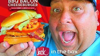 Jack In The Box® New BBQ Bacon Cheeseburger REVIEW!