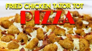 Fried Chicken Tater Tot Pizza - Handle It