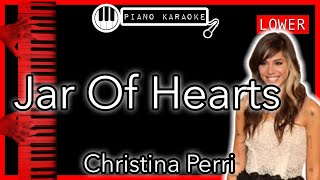 Jar Of Hearts - Christina Perri - Piano Karaoke - LOWER