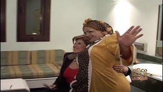 معكم منى الشاذلي | شاهد رد فعل هالة سرحان لما شافت هنيدي بلبس «الخالة نوسة» في كواليس تعرض لأول مرة