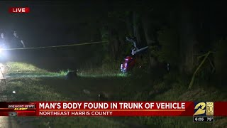 Man's body found in Trunk of Vehicle