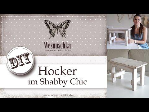 DIY: Hocker im Schabby Chic | selber bauen und gestalten