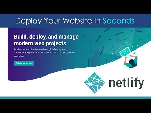 Deploy Websites In Seconds With Netlify