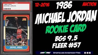 4 1986 Michael Jordan Fleer #57 Rookie Cards. Graded BGS 9.5