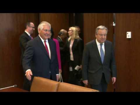Secretary Tillerson Meets with UN Secretary General Guterres