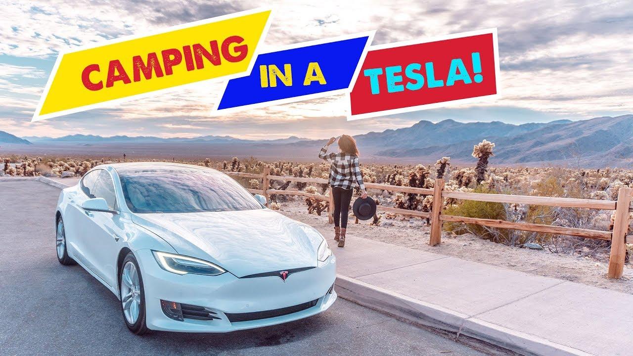 Tesla Model S Road Trip 5000 Miles Part 2 Camper Mode At Joshua Tree National Park