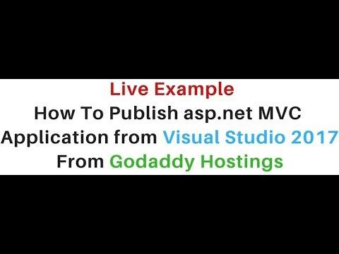 publish/deploy asp.net mvc website from visual studio 2017 godaddy