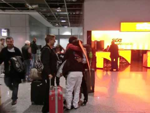 my friends arriving to Frankfurt Airport :) ERASMUS KASSEL 2012