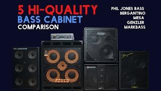 5 Hi-Quality Bass Cabinet Comparison Markbass、Genzler、Bergantino、Phil Jones Bass、Mesa、