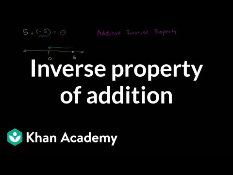 Inverse Property Of Addition | Arithmetic Properties | Pre-Algebra | Khan Academy