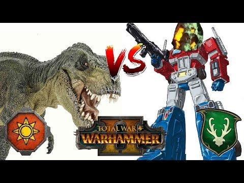 OPTIMUS PINE V T-REX | Wood Elves vs Lizardmen: Total War Warhammer 2