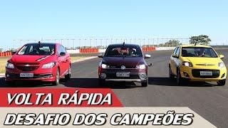 VW GOL x FIAT PALIO x CHEVROLET ONIX - VOLTA RÁPIDA COM RUBENS BARRICHELLO #45 |ACELERADOS thumbnail