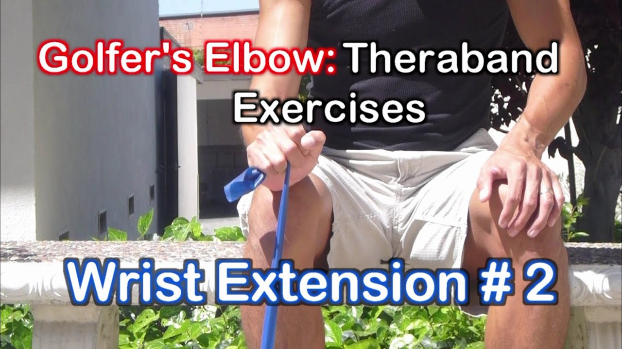 Golfers Elbow Exercises: Theraband Exercises for Elbow ...