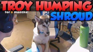 SHROUDS DOG TROY HUMPING SHROUD - twitch highlights