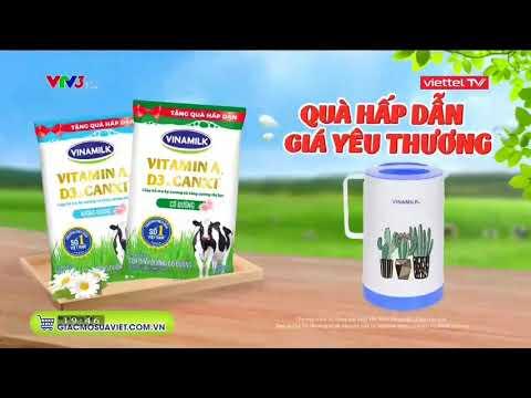 Quảng cáo Sữa tươi Vinamilk 2021 - Quà hấp dẫn, giá yêu thương