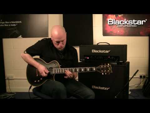Andy James blasts some metal through the Blackstar HT-100 Stage half-stack