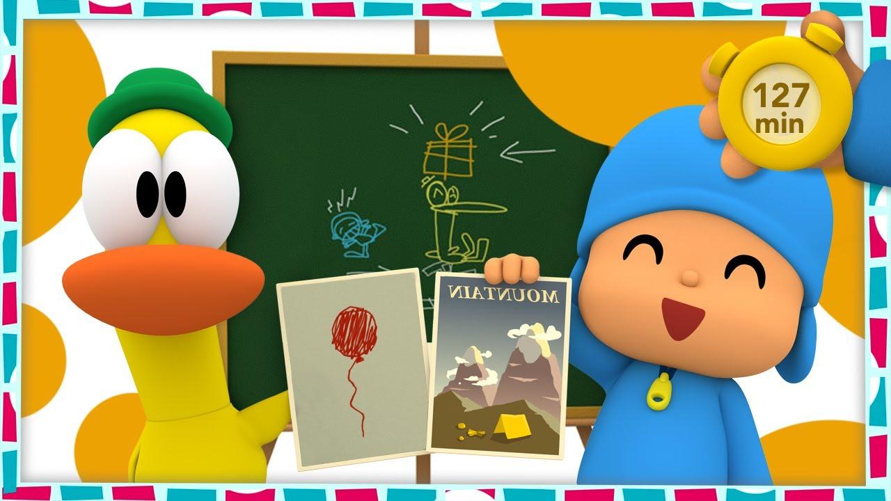🚌 POCOYO E NINA - É hora de voltar às aulas! [127 minutos] | DESENHOS ANIMADOS para crianças