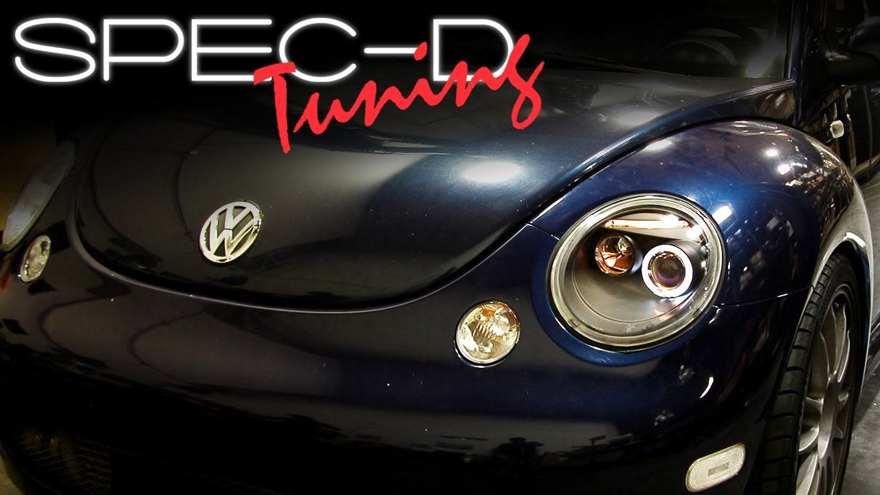 Specdtuning Installation Video 1998 2005 Volkswagen Beetle Projector Head Lights You