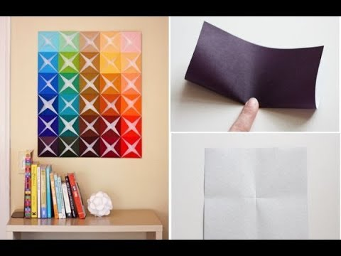 DIY Paper Wall Art / 3D Paper WAll Art - YouTube