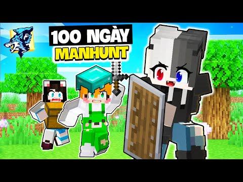 Siro 100 ngày Minecraft SINH TỒN MANHUNT cùng Mèo Simmy và Kamui