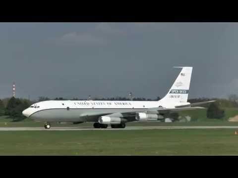 OC-135 USAF Open Skies at Pardubice Airport