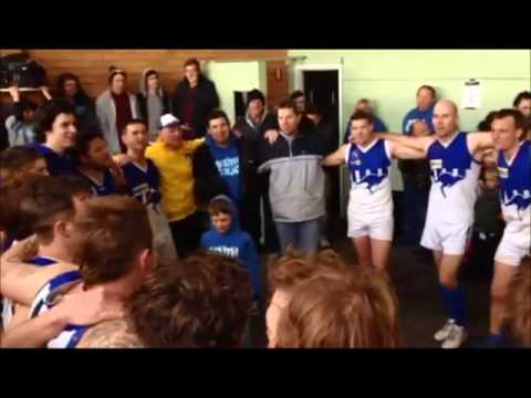 South Colac celebrates elimination final win against Western Eagles 2013
