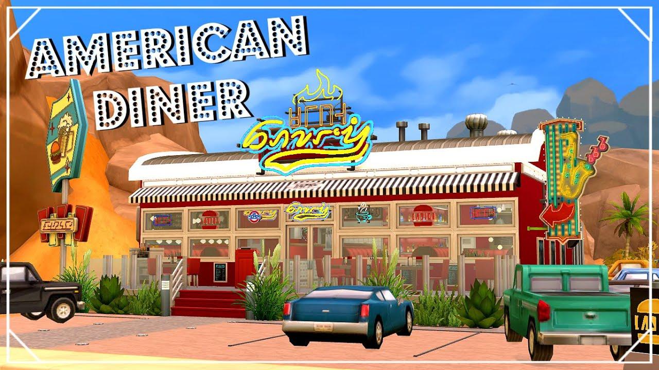 AMERICAN DINER   RESTAURANT Sims 4 | Interior Design