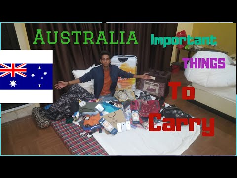 Important Things To Buy  Before Going To Australia | International Students
