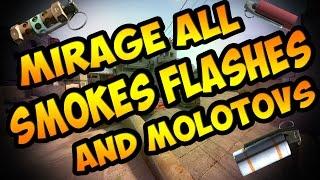 Mirage All Smokes Flashes And Molotov's [Tutorial] [CS GO]