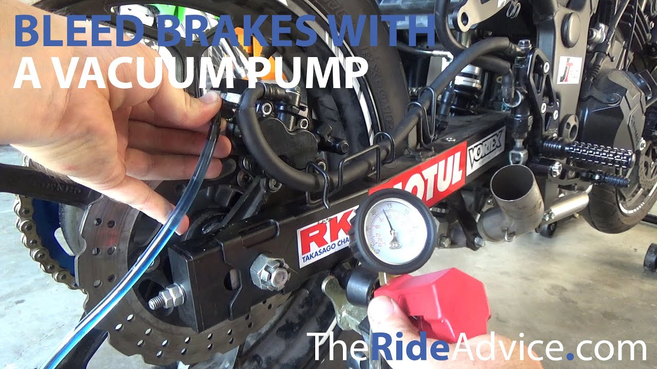 how to bleed motorcycle brakes with a vacuum pump youtube. Black Bedroom Furniture Sets. Home Design Ideas
