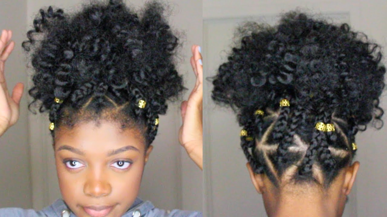 Triangle Box Braid Faux Puff Ball Rubber Band Method