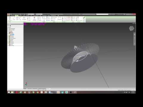 Easy & Fast Autodesk Inventor 2015 How to make Jet Engine detailed Tutorial mp4
