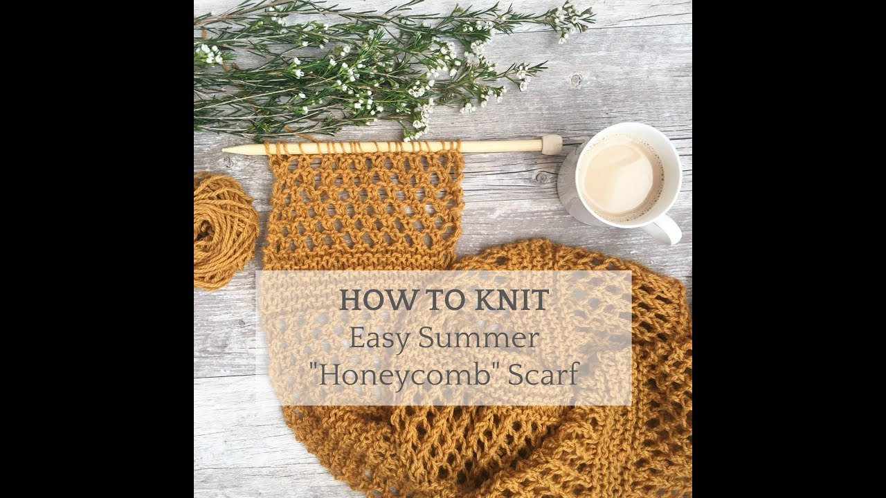 How To Knit Easy Summer Scarf Stitch Pattern Youtube
