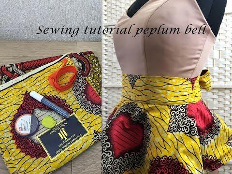 Peplum Belt made with ankara tutorial