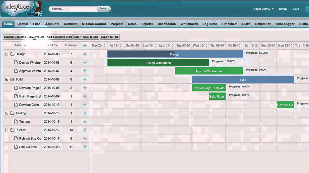 Mission Control Chapter 8 Gantt Chart Youtube