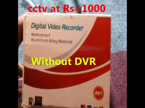 Unboxing of CCTV Dome Camera Video Recorder With IR Inbuilt DVR Micro SD Card Slot