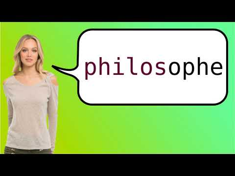 How to say 'philosopher' in French?