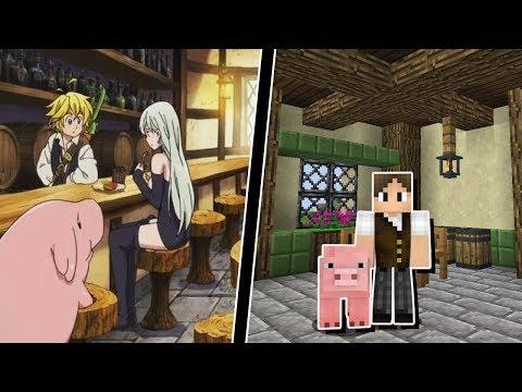 Minecraft Infinito #15: DECOREI MEU PORCO GIGANTE IGUAL A UM ANIME!!!