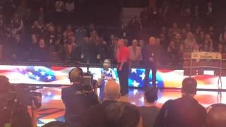 raymond luke jr sings the national anthem